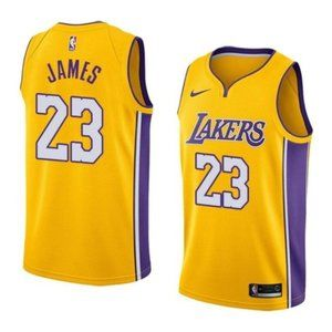 Los Angeles Lakers LeBron James Yellow Jersey